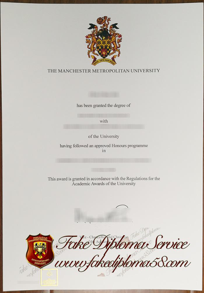 The Manchester Metropolitan University diploma