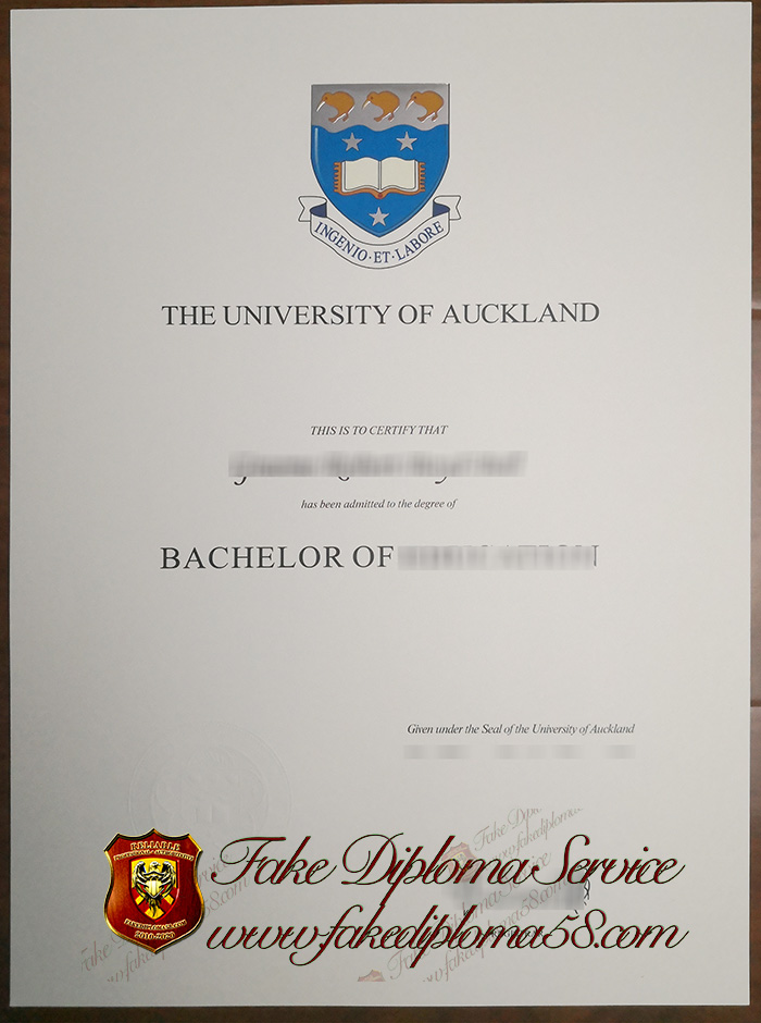 The University of Auckland diploma