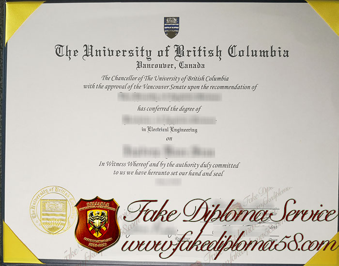 The University of British Columbia diploma