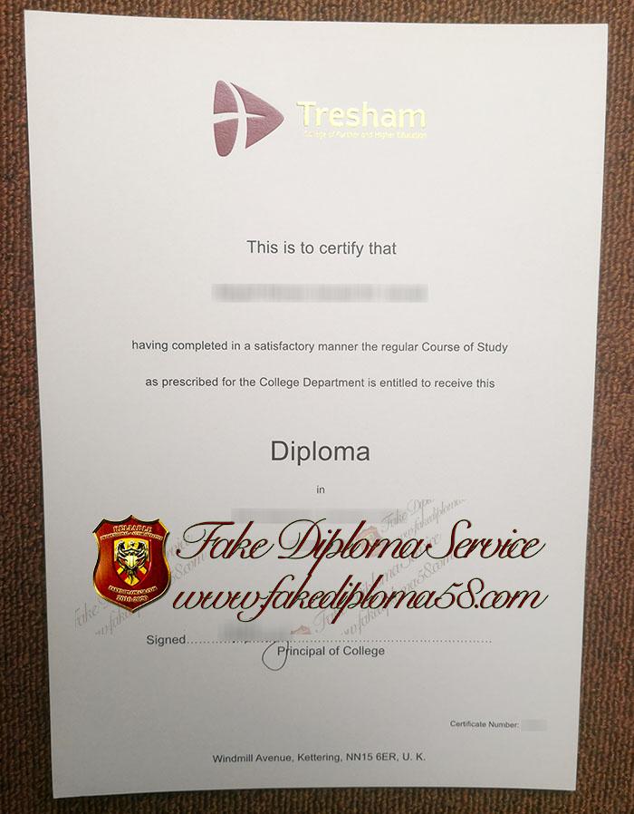 Tresham College diploma