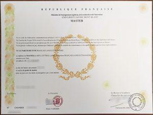 Universite Savoie Mont Blanc degree