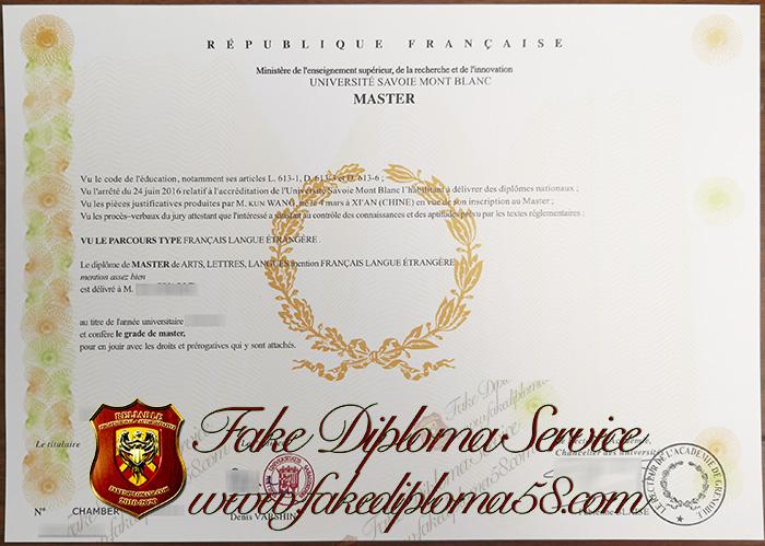 Universite Savoie Mont Blanc diploma