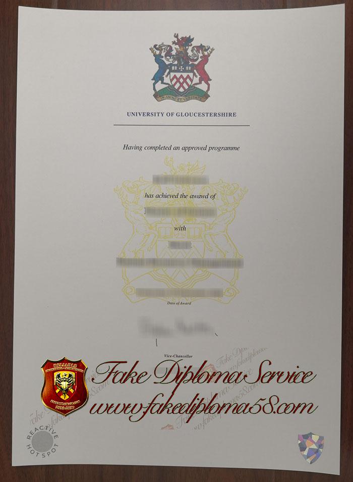 University of Gloucestershire diploma