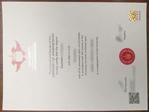 University of Johannesburg degree