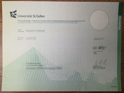 Purchase a fake University of St.Gallen degree online