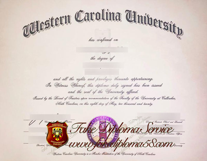 Western Carolina University diploma