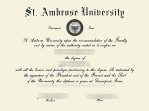 Ambrose University degree