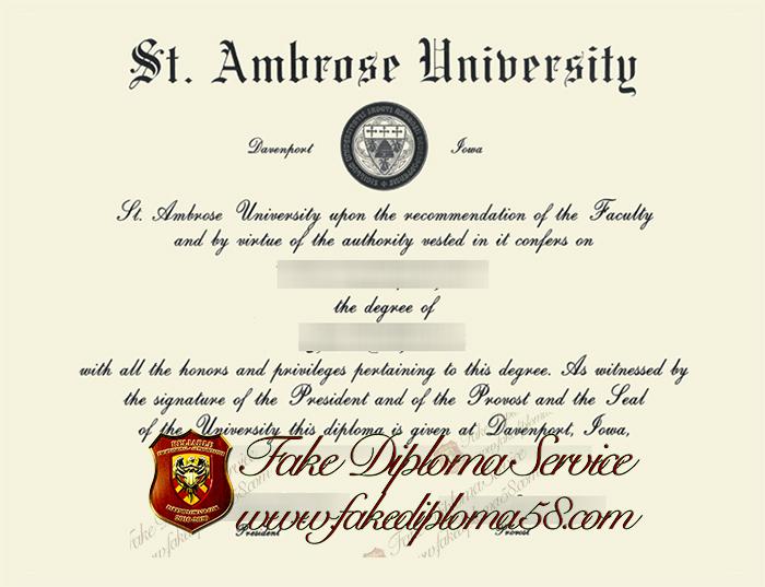 Ambrose University diploma