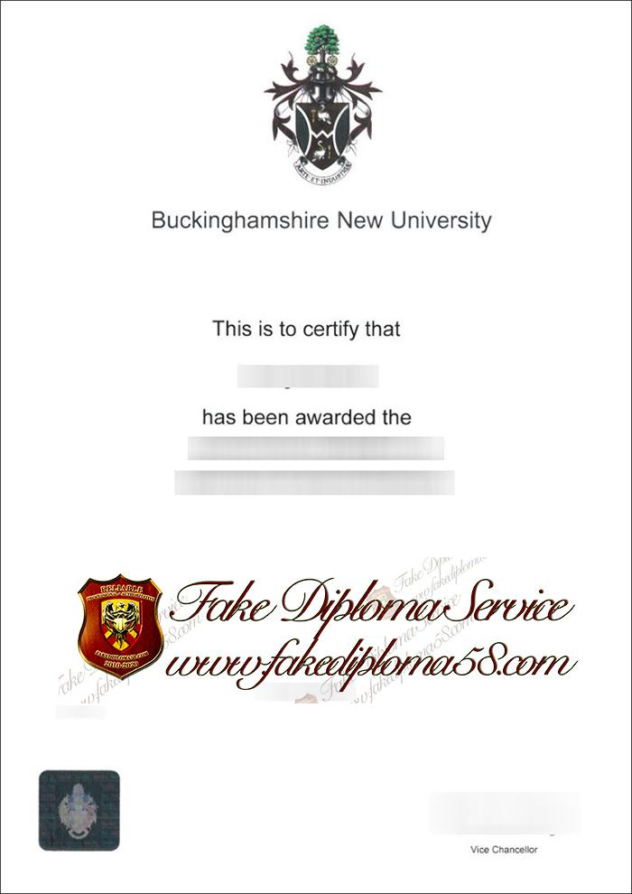Buckinghamshire New University diploma