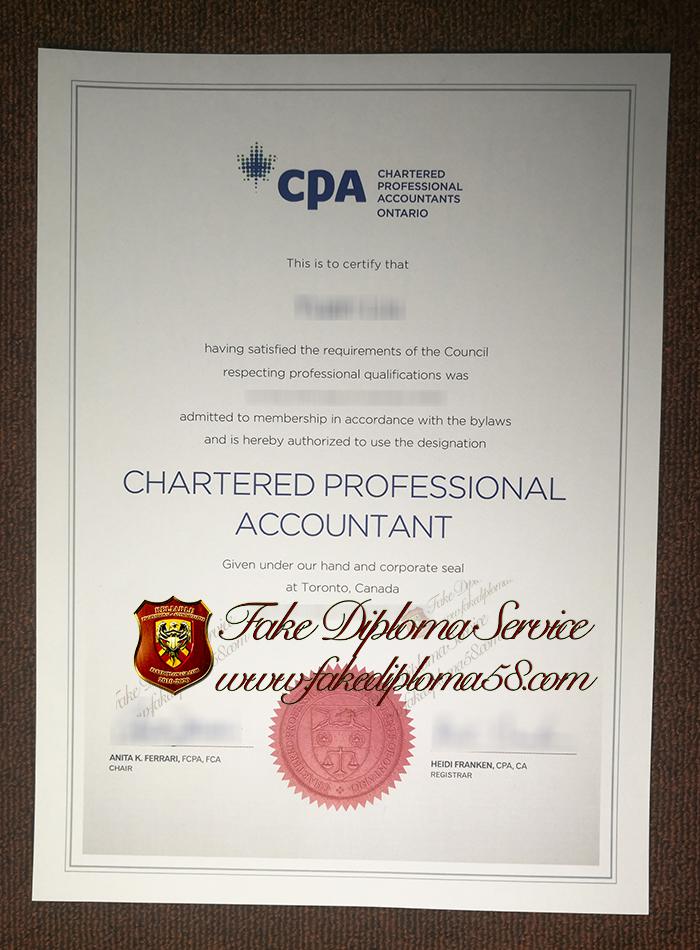 CPA certificte