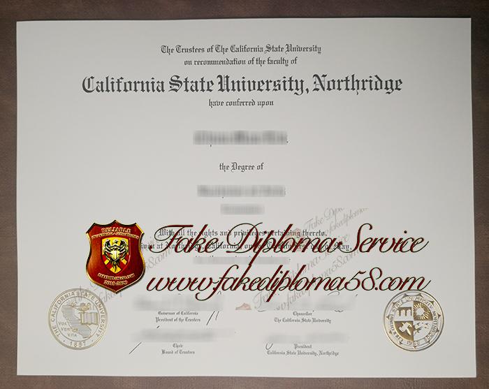California State University, Northridge diploma