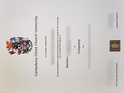 Purchase a fake Canterbury Christ Church University degree online