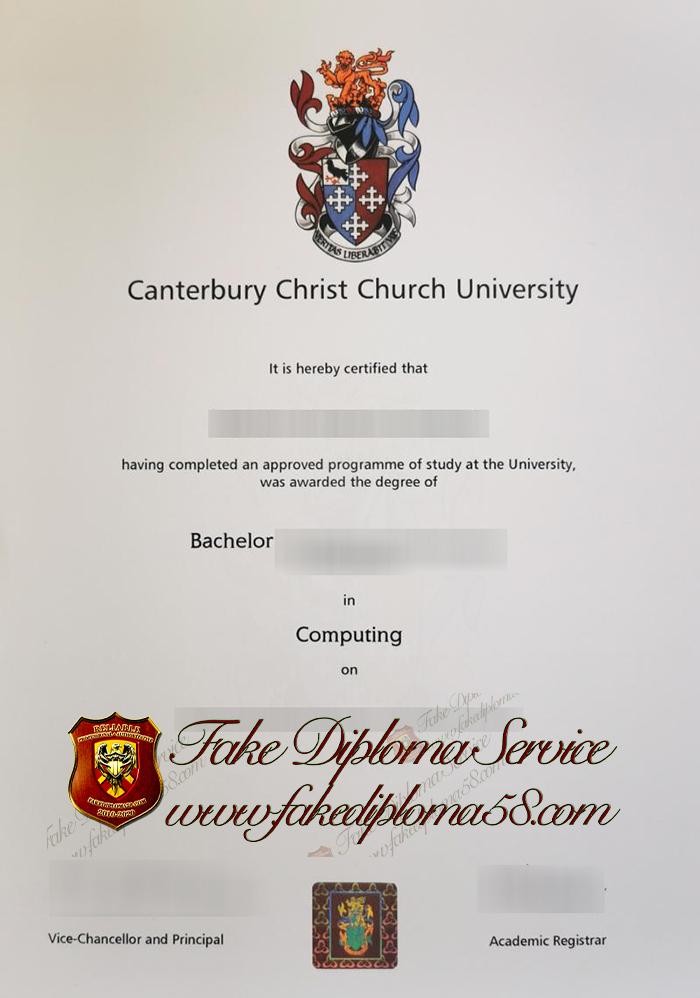 Canterbury Christ Church University diploma