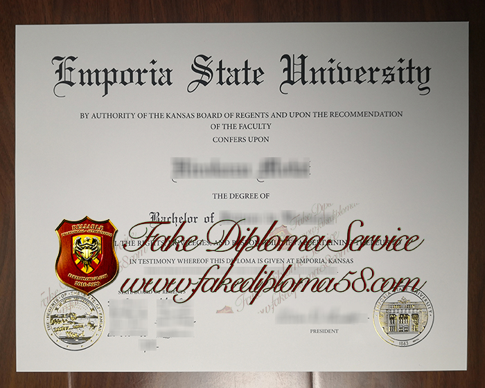 Emporia State University diploma