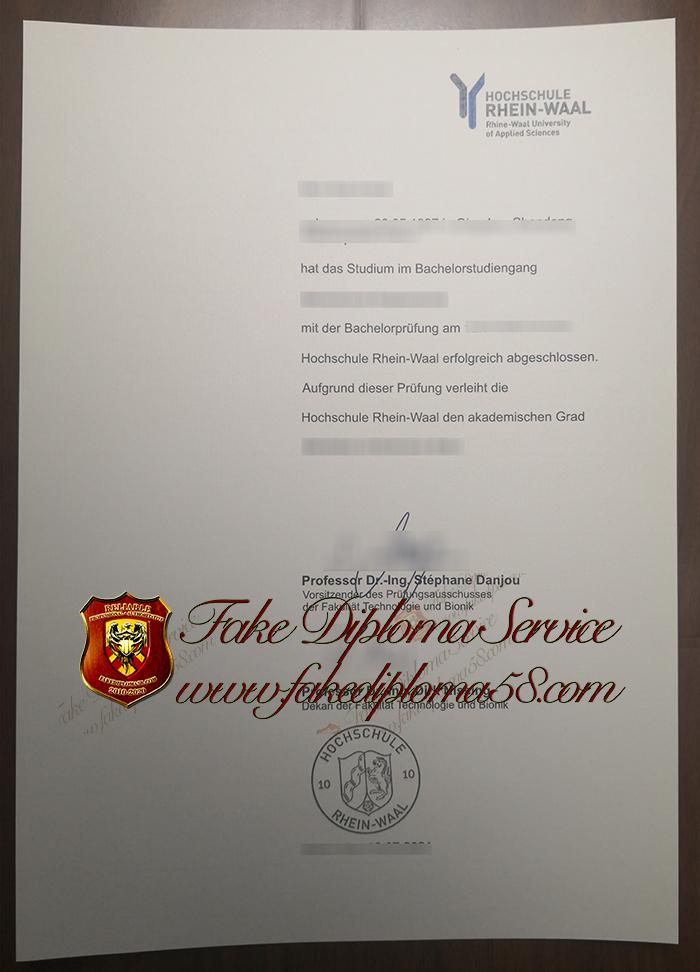 Hochschule Rhein-Waal diploma