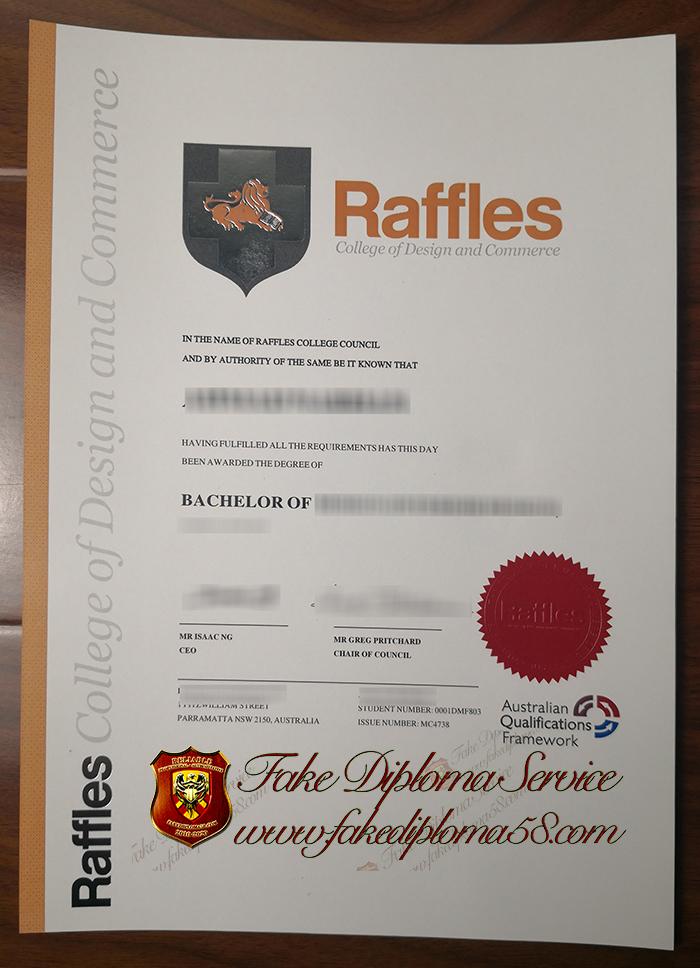 Raffles certificate