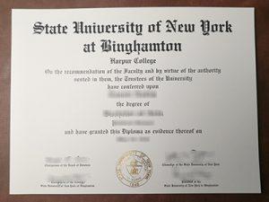 State University of New York at Binghamton degree