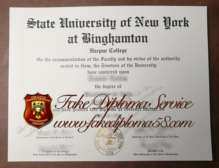 State University of New York at Binghamton diploma