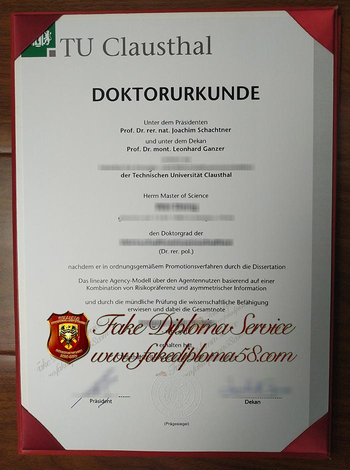 TU Clausthal diploma