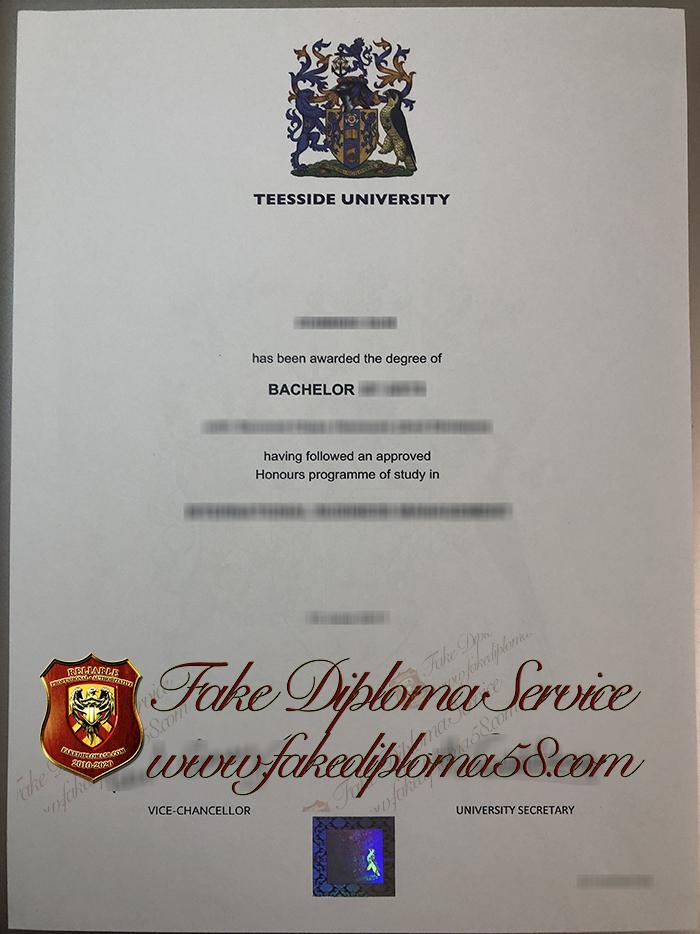 Teesside University diploma