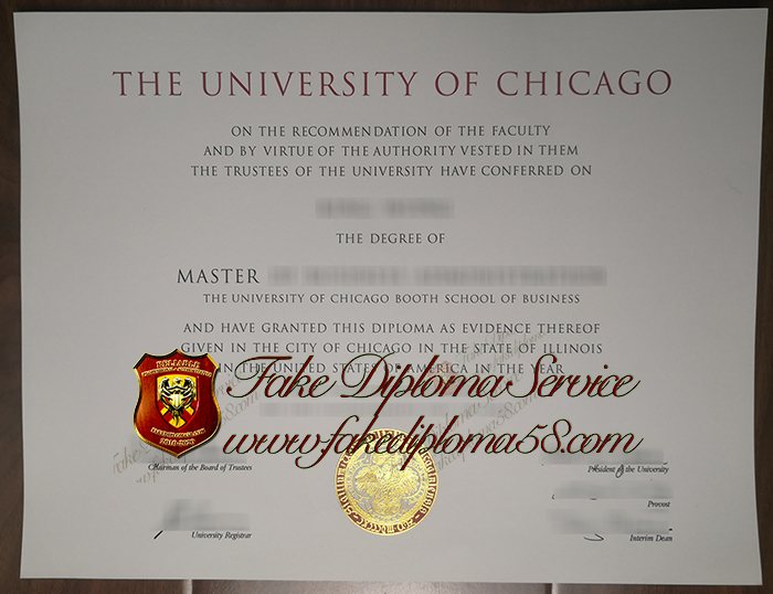 The University of Chicago diploma