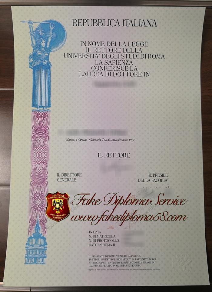 Università degli Studi di Roma La Sapienza diploma
