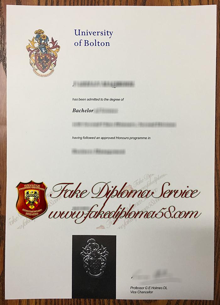 University of Bolton diploma