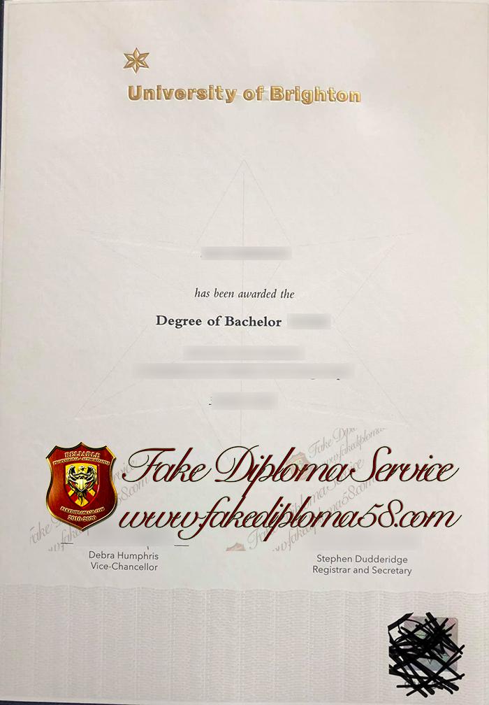 University of Brighton diploma