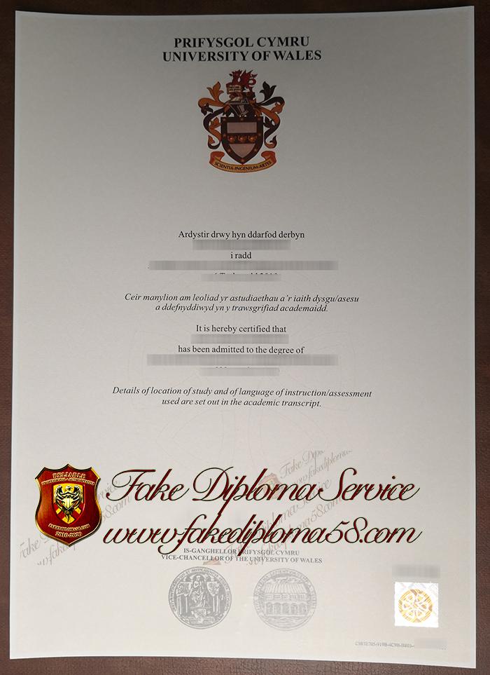 University of Wales diploma