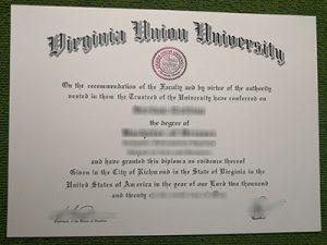 Virginia Union University degree