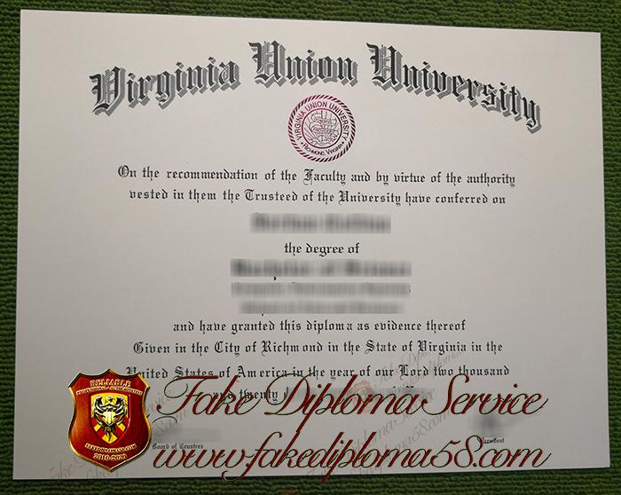 Virginia Union University diploma