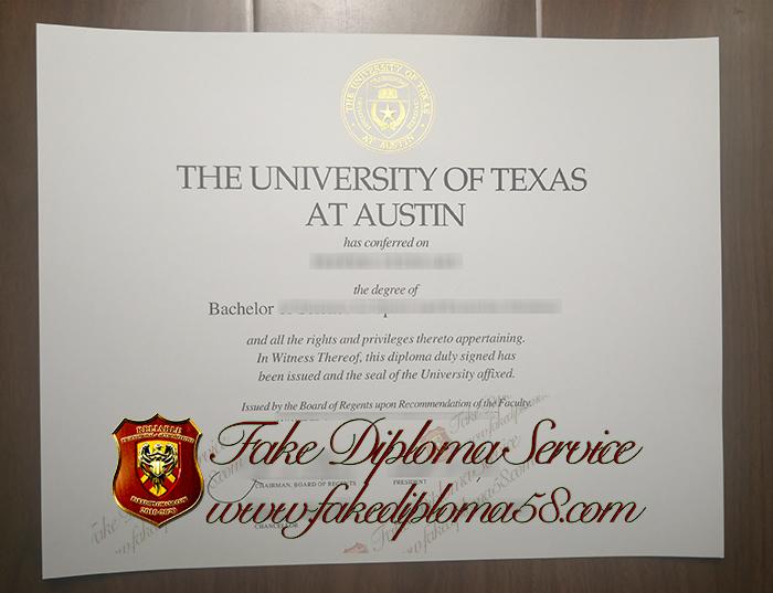 the University of Texas at Austin diploma