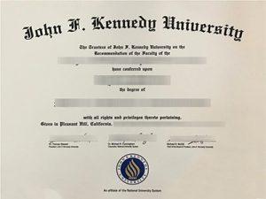 John F.Kennedy University degree