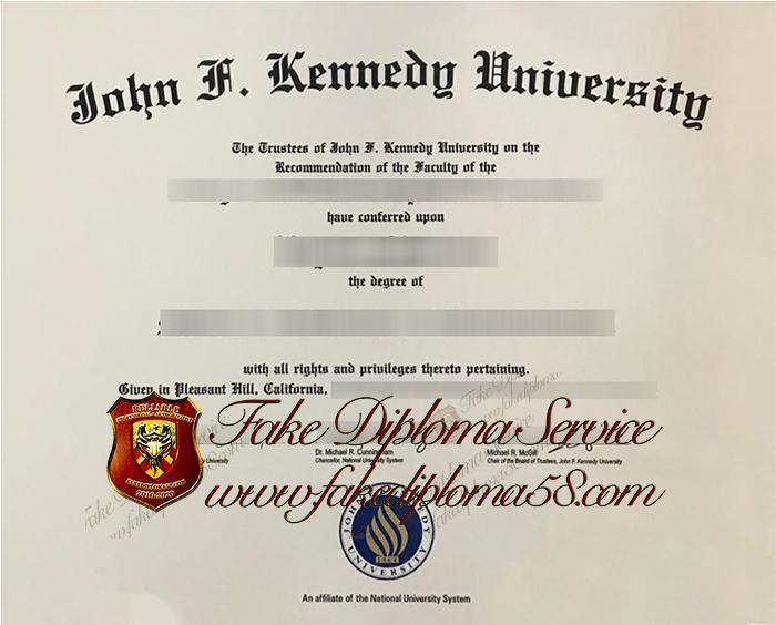 John F.Kennedy University diploma