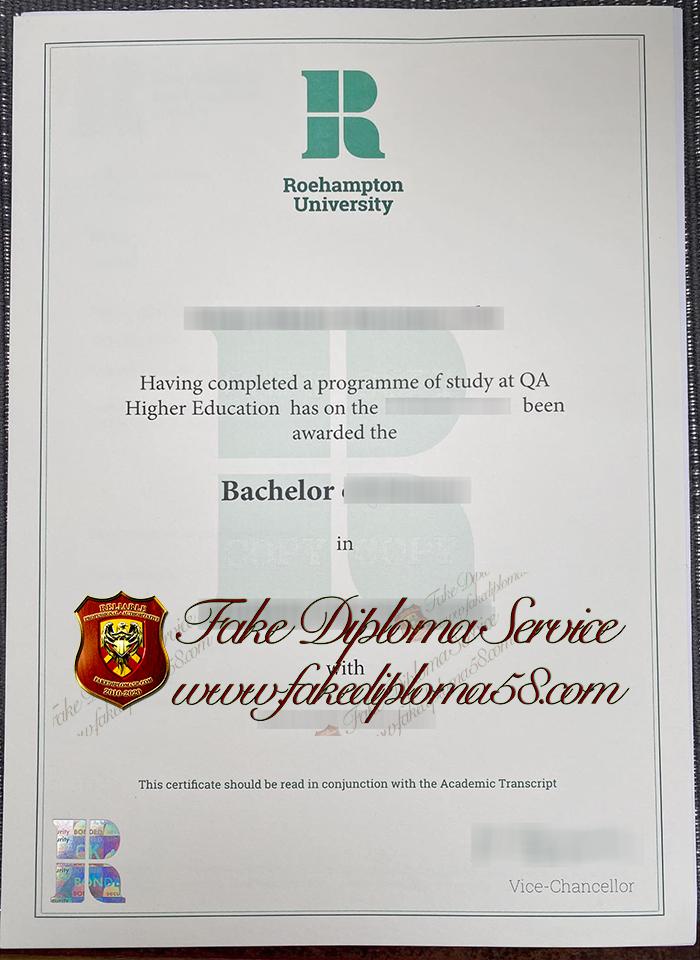 Roehampton University diploma
