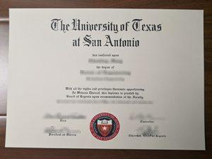 UTSA degree
